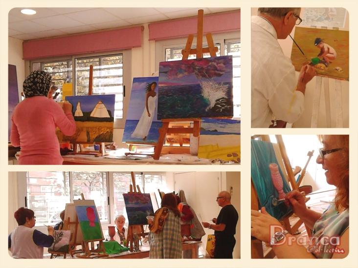 Taller de pintura a l'AAVV Bon Pastor